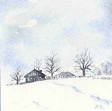 Papiernictvo - Pohľadnica - Zimná krajinka 2 - 11164429_
