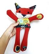 Hračky - Textilné zvieratko - Líštička kvetinárka - 11164309_