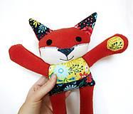 Hračky - Textilné zvieratko - Líštička kvetinárka - 11164311_