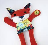 Hračky - Textilné zvieratko - Líštička kvetinárka - 11164313_
