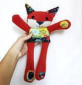 Hračky - Textilné zvieratko - Líštička kvetinárka - 11164314_