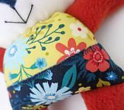 Hračky - Textilné zvieratko - Líštička kvetinárka - 11164315_