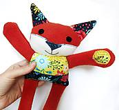 Hračky - Textilné zvieratko - Líštička kvetinárka - 11164338_