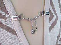 Šperkové dekoračné klipy na svetre, saká, žakety, vesty...