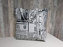 Nákupné tašky - Nákupná taška - noviny - 11161724_