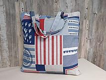 Nákupné tašky - Nákupná taška - námornická - 11161756_