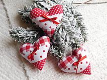 Dekorácie - Srdiečko červeno-biele - 11164426_