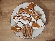 Drobnosti - Vianočné medovníky - biele prevedenie - 11164070_