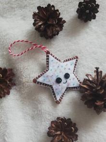 Dekorácie - Vianočná ozdoba Hviezdička - 11162293_