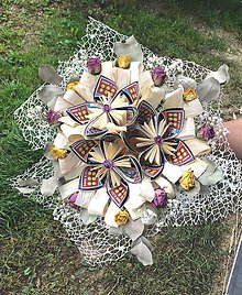 Dekorácie - Kytica zo žrebov - 11161956_