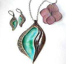 Sady šperkov - Sada šperkov z keramiky - Tyrkysová - 11162436_