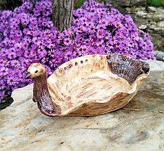 Nádoby - Keramická miska -Vtáčik - 11162964_