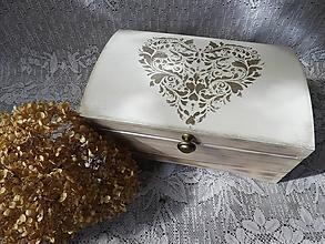 Darčeky pre svadobčanov - Svatební,dárková truhla,šperkovnice velká - 11163825_