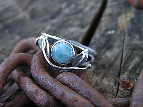 Prstene - Strieborny prsteň Ag 925 Larimar - 11162159_