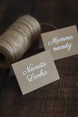 Papiernictvo - Menovka v prírodnom dizajne - 11162583_