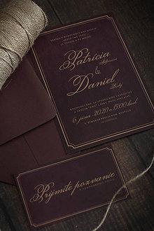 """Papiernictvo - Svadobné oznámenie """"burgundy"""" ❤ - 11163175_"""