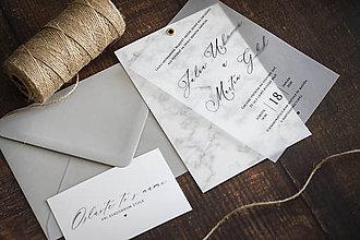 """Papiernictvo - Transparentné svadobné oznámenie """"MRAMOR"""" ❤ - 11163352_"""
