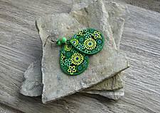 Náušnice - Drevené maľované slzičky - 11161533_