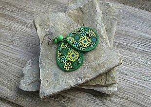 Náušnice - Drevené maľované slzičky (č. 2909) - 11161533_