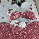 Úžitkový textil - SALOMA - strieborno vínová hviezdna kombinácia - vianočné srdiečko 13x13 - 11164394_
