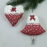 Úžitkový textil - SALOMA - strieborno vínová hviezdna kombinácia - vianočné srdiečko 13x13 - 11164397_