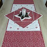 Úžitkový textil - SALOMA - strieborno vínová hviezdna kombinácia - behúň 130x40 - 11164438_