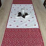 Úžitkový textil - SALOMA - strieborno vínová hviezdna kombinácia - behúň 130x40 - 11164441_
