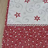 Úžitkový textil - SALOMA - strieborno vínová hviezdna kombinácia - behúň 130x40 - 11164443_