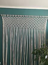 Úžitkový textil - Macrame záclona - 11161707_