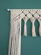 Úžitkový textil - Macrame záves so strapcami - 11161738_