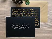 Papiernictvo - Vianočná pohľadnica - Tichá noc (Zlatá) - 11164200_