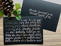 Papiernictvo - Vianočná pohľadnica - Tichá noc (Strieborná) - 11164213_