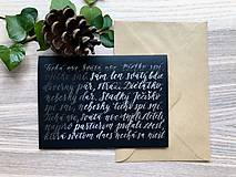 Papiernictvo - Vianočná pohľadnica - Tichá noc (Strieborná) - 11164215_