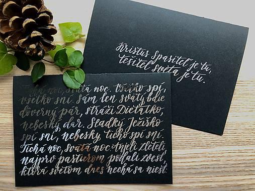 Vianočná pohľadnica - Tichá noc (Strieborná)