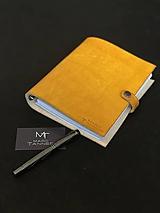Papiernictvo - Kožený zápisník A5/A6 (A6 Prírodná (A)) - 11163894_