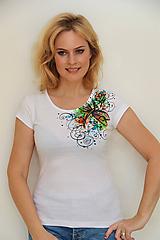 Tričká - Maľované tričko s vážkou... - 11164102_
