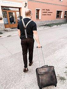 Veľké tašky - Kožený kufor SHPERKA (Červená) - 11164623_