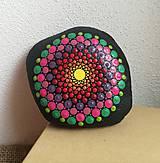 """Dekorácie - Maľovaný kameň mandala """"Energia II"""" - 11164362_"""