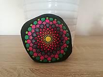"""Dekorácie - Maľovaný kameň mandala """"Energia II"""" - 11164363_"""
