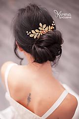 Ozdoby do vlasov - Svadobný hrebienok - 11161678_