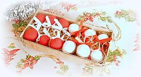 Dekorácie - Plstené vianočné oriešky s mašličkou - 11163812_