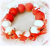 Dekorácie - Plstené vianočné oriešky s mašličkou - 11163813_