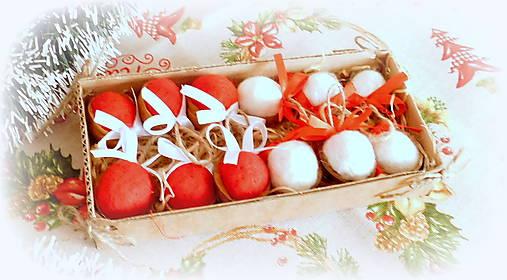 Plstené vianočné oriešky s mašličkou