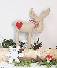 Dekorácie - Vianočný sobík - 11162186_