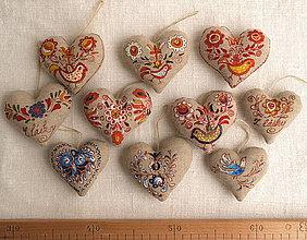 Darčeky pre svadobčanov - FILKI folk maľované srdiečko - 11161176_
