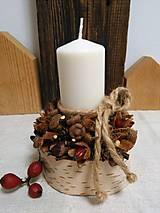 Svietidlá a sviečky - Prírodný svietnik - 11163002_