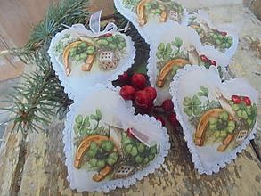 Dekorácie - Veselé vianočné srdiečka,..... - 11161138_