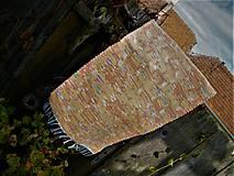 Úžitkový textil - Tkaný koberec marhuľovo-pomarančový - 11164528_
