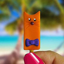 Magnetky - Nanukové magnetky s motýlikom (mačička) - 11162547_