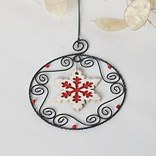 Dekorácie - vianočná dekorácia hviezda (Biela) - 11165156_